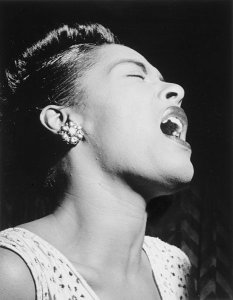 Billie Holiday at the Downbeat club, von William P. Gottlieb