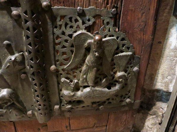 Erzengel Michael überwindet den Drachen (Alter Meister)