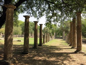 Das Palästra von Olympia