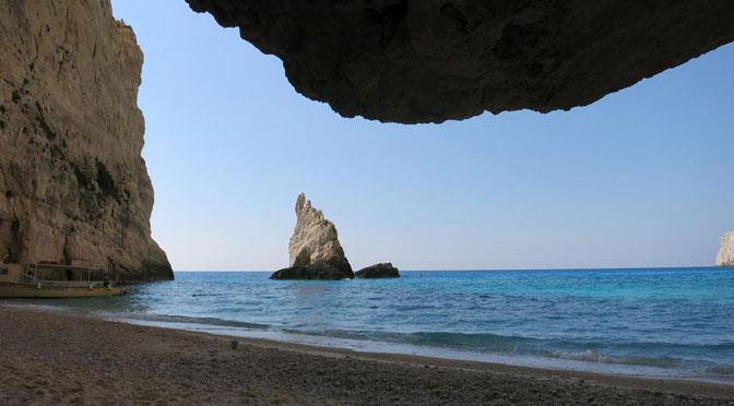 Bucht an der Westküste von Zakynthos